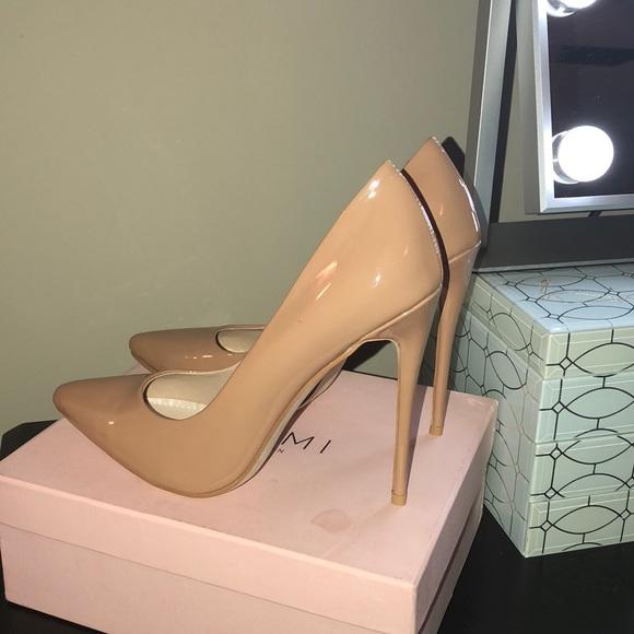 cd22d9e0db Imani Coffee Patent Stiletto Court Shoes